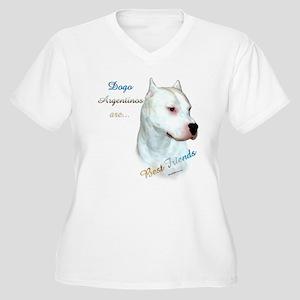 Dogo Best Friend 1 Women's Plus Size V-Neck T-Shir