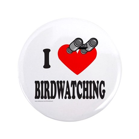 "I HEART BIRDWATCHING 3.5"" Button"