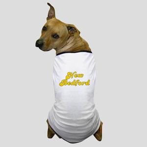 Retro New Bedford (Gold) Dog T-Shirt