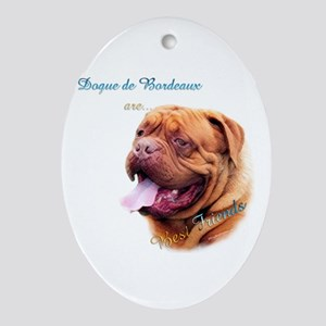 Dogue Best Friend 1 Oval Ornament