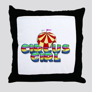 CPM Carnival Girl Throw Pillow