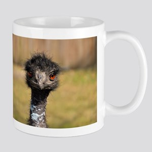 Portrait of an Emu Stainless Steel Travel Mugs