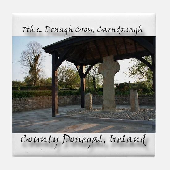 7th CENTURY CROSS, CARNDONAGH Tile Coaster