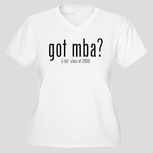 got mba? (i do! class of 2008) Women's Plus Size V