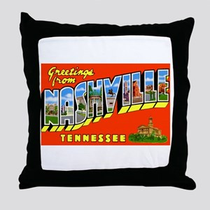 Nashville Tennessee Greetings Throw Pillow