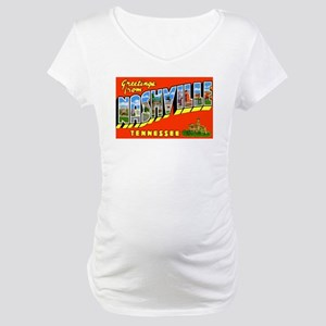 Nashville Tennessee Greetings (Front) Maternity T-