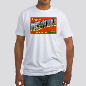Nashville Tennessee Greetings (Front) Fitted T-Shi