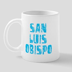 San Luis Obi.. Faded (Blue) Mug
