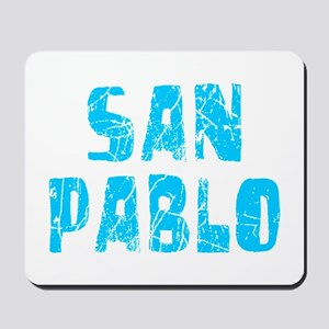 San Pablo Faded (Blue) Mousepad