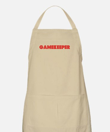 Retro Gamekeeper (Red) BBQ Apron