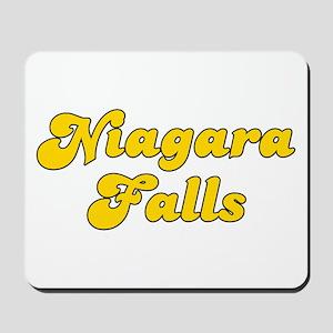 Retro Niagara Falls (Gold) Mousepad