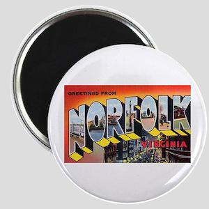 """Norfolk Virginia Greetings 2.25"""" Magnet (10 pack)"""