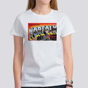 Norfolk Virginia Greetings (Front) Women's T-Shirt