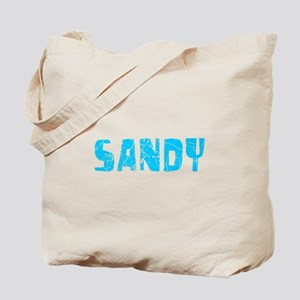 Sandy Faded (Blue) Tote Bag