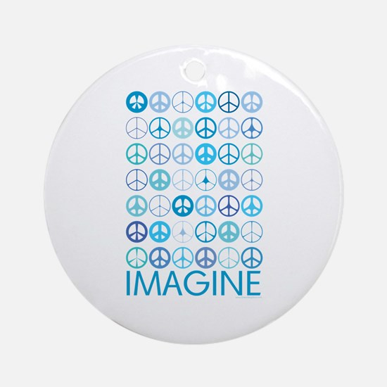 Imagine Peace Signs Ornament (Round)