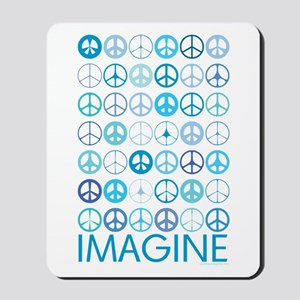 Imagine Peace Signs Mousepad