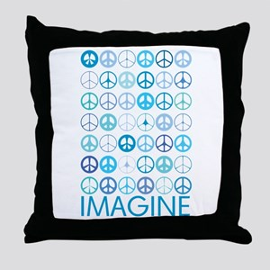 Imagine Peace Signs Throw Pillow