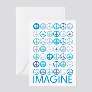 Imagine Peace Signs Greeting Card