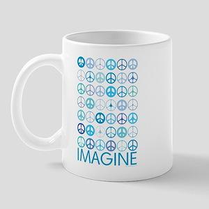 Imagine Peace Signs Mug