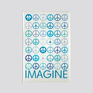 Imagine Peace Signs Rectangle Magnet