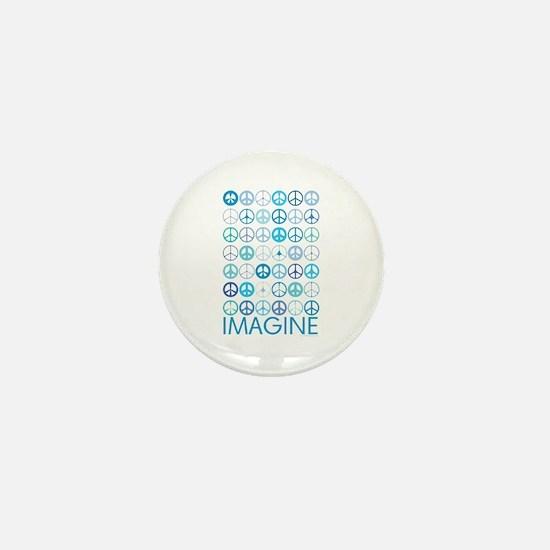 Imagine Peace Signs Mini Button