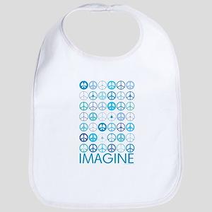 Imagine Peace Signs Bib