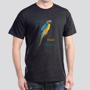 Blue and Gold Macaw Dark T-Shirt