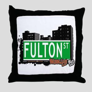 FULTON ST, BROOKLYN, NYC Throw Pillow