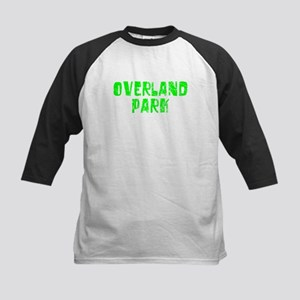 Overland Park Faded (Green) Kids Baseball Jersey