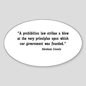 Prohibition Oval Sticker