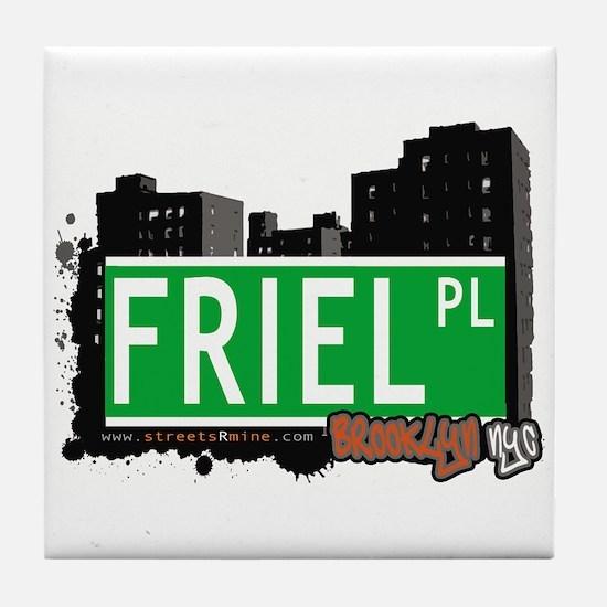 FRIEL PL, BROOKLYN, NYC Tile Coaster