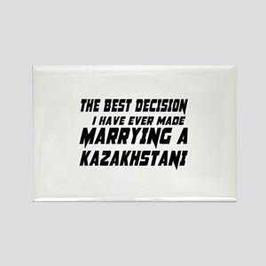 Marrying Kazakhstani Country Rectangle Magnet