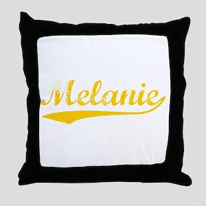 Vintage Melanie (Orange) Throw Pillow