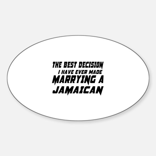 Marrying Jamaican Country Sticker (Oval)