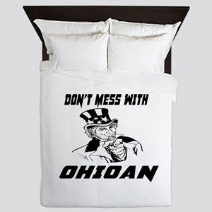 Do Not Mess With Ohioan Queen Duvet