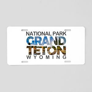 Grand Teton - Wyoming Aluminum License Plate