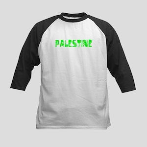Palestine Faded (Green) Kids Baseball Jersey
