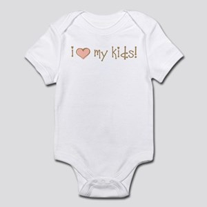 I Love Heart My Kids Infant Bodysuit