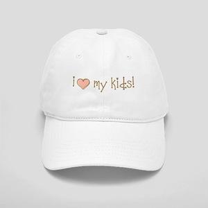 I Love Heart My Kids Cap