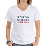 SUPERSTAR MOM Women's V-Neck T-Shirt