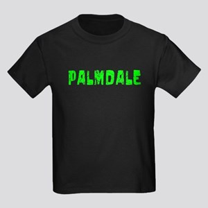 Palmdale Faded (Green) Kids Dark T-Shirt