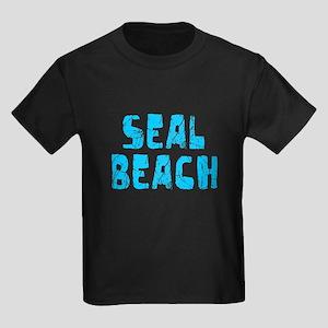 Seal Beach Faded (Blue) Kids Dark T-Shirt