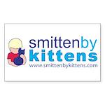 Smitten By Kittens Rectangle Sticker 50 pk)