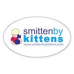 Smitten By Kittens Oval Sticker (50 pk)