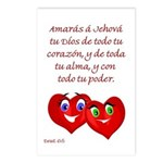 Spanish Dt 6.5 Hearts Postcards (Package of 8)