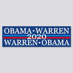 Obama Warren 2020 Bumper Sticker