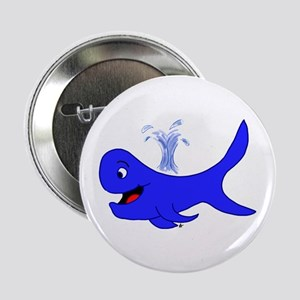 """Big Blue Whale 2.25"""" Button"""