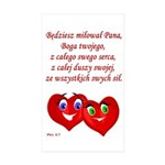Polish Heartsfor God Rectangle Sticker 50 pk)