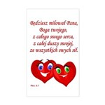 Polish Heartsfor God Rectangle Sticker