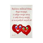 Polish Heartsfor God Rectangle Magnet (10 pack)